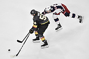 LAS VEGAS, NV - JANUARY 23: skates against the Columbus Blue Jackets during the game at T-Mobile Arena on January 23, 2018 in Las Vegas, Nevada. (Photo by Jeff Bottari/NHLI via Getty Images) *** Local Caption ***