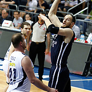 Anadolu Efes's Ermal Kurtoglu (R) during their Turkish Basketball league derby match Fenerbahce Ulker between Anadolu Efes at the Ulker Sports Arena in Istanbul, Turkey, Monday, April 29, 2013. Photo by Aykut AKICI/TURKPIX