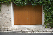 garage door in rural France
