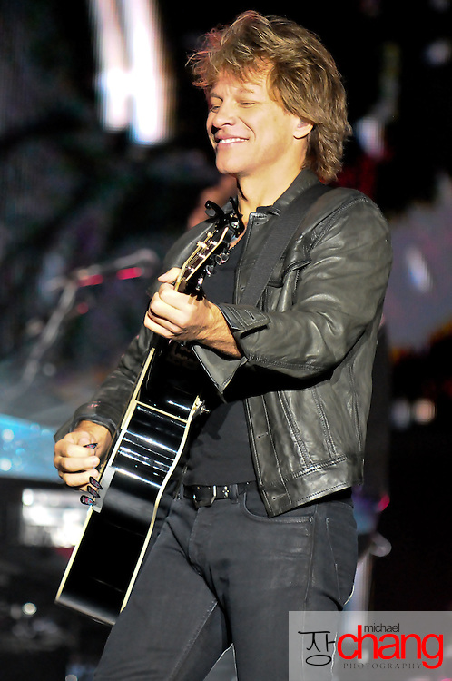 Bon Jovi performs live at the Concert for the Coast.