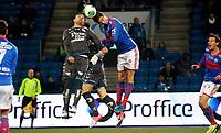 Fotball<br /> Tippeligaen<br /> Ullevål Stadion 10.11.13<br /> Vålerenga VIF - Sandnes Ulf<br /> Torgeir Børven i duell med Milos Mihajlov<br /> <br /> Foto: Eirik Førde