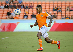 July 18, 2018 - Houston, TX, U.S. - HOUSTON, TX - JULY 18:  Houston Dynamo forward Romell Quioto (31) chases the ball during the US Open Cup Quarterfinal soccer match between Sporting KC and Houston Dynamo on July 18, 2018 at BBVA Compass Stadium in Houston, Texas. (Photo by Leslie Plaza Johnson/Icon Sportswire) (Credit Image: © Leslie Plaza Johnson/Icon SMI via ZUMA Press)