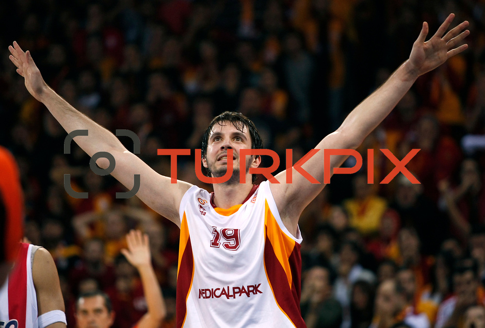 Galatasaray's Furkan Aldemir during their Turkish Airlines Euroleague Basketball Top 16 Group E Game 2 match Galatasaray between Olympiacos at Abdi Ipekci Arena in Istanbul, Turkey, Thursday, January 26, 2012. Photo by TURKPIX