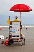 Beach lifeguard watches Front Beach on the Isle of Palms, SC.