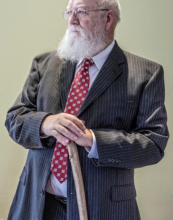 Nederland. Nijmegen,18-10-2018. Photo: Patrick Post. Portret van Daniel Dennet.