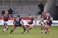 Ollie Partington (14) of Wigan Warriors in action during the game