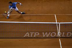 May 4, 2018 - Lisbon, Portugal - Pablo Carreno Busta in action during the Millennium Estoril Open tennis tournament in Estoril, outskirts of Lisbon, Portugal on May 4, 2018  (Credit Image: © Carlos Costa/NurPhoto via ZUMA Press)