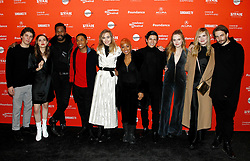 """Maude Apatow, Abra, Odessa Young, Bella Thorne, Suki Waterhouse, Hari Nef at the premiere of """"Assassination Nation"""" during the 2018 Sundance Film Festival held at the Library Theatre on January 21, 2018 in Park City, UT. © JPA / AFF-USA.COM. 21 Jan 2018 Pictured: Lukas Gage, Maude Apatow, Colman Domingo, Kevin Harrison Jr, Suki Waterhouse, Anika Noni Rose, Danny Ramirez, Odessa Young, Han Nef and Sam Levinson. Photo credit: JPA / AFF-USA.COM / MEGA TheMegaAgency.com +1 888 505 6342"""