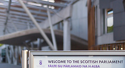 THEMENBILD - Eingang des schottischen Parlaments, Edinburgh, Schottland, aufgenommen am 06. Juni 2015 // Entrance of the Scottish Parliament, Edinburgh, Scotland on 2015/06/06. EXPA Pictures © 2015, PhotoCredit: EXPA/ JFK