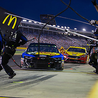 May 19, 2018 - Concord, North Carolina, USA: Jamie McMurray (1) makes a pit stop for the Monster Energy All-Star Race at Charlotte Motor Speedway in Concord, North Carolina.