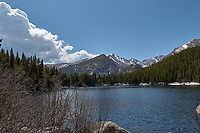 Lily Lake in Rocky Mountain National Park. Image taken with a Nikon D2xs camera and 17-55 mm f/2.8 lens (ISO 100, 17 mm, f/8.5, 1/320 sec).