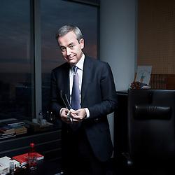 PARIS LA DEFENSE, FRANCE. DECEMBER 2, 2011. Rhodia's CEO Jean-Pierre Clamadieu in his office. Photo: Antoine Doyen