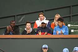 March 9, 2019 - Indian Wells, CA, U.S. - INDIAN WELLS, CA - MARCH 09: Naomi Osaka's players box applauds during the BNP Paribas Open on March 9, 2019 at Indian Wells Tennis Garden in Indian Wells, CA. (Photo by George Walker/Icon Sportswire) (Credit Image: © George Walker/Icon SMI via ZUMA Press)