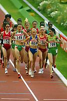 Athletics, 30. august 2003, VM Paris, World Championship in Athletics, Zhor El Kamch (706), Gabriela Szabo (884), Sonia O´Sullivan (546),  Emilie Mondor (152)