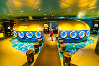 Oceaneer Club (kid's club) on the new Disney Dream cruise ship sailing between Florida and the Bahamas.