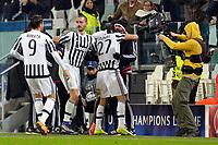 Esultanza Gol Stefano Sturaro Juventus 2-2 Goal celebration <br /> Torino 23-02-2016 Juventus Stadium, Football Champions League 2015/2016 Round of 16 Juventus - Bayern Munich / Juventus - Bayern Monaco .  Foto Filippo Alfero / Insidefoto