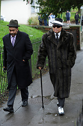 © under license to London News Pictures. 2011/02/11. Lloyd Honeyghan arriving at the  The Funeral of boxer Gary Mason at All Saints Church, High Street, Carshalton, Surrey today (11/02/2011). Photo credit should read: Grant Falvey/London News Pictures.