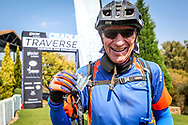 David Purnell poses for a finish line photo after completing the 2017 Glacier Cradle Traverse, on Sunday the 7th of May. Photo by Oakpics/Cradle Traverse/Sportzpics.