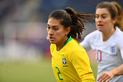 February 27, 2019 - Chester, PA, U.S. - CHESTER, PA - FEBRUARY 27: Brazil Defender Letícia S (2) chases down the ball in the first half during the She Believes Cup game between Brazil and England on February 27, 2019 at Talen Energy Stadium in Chester, PA. (Photo by Kyle Ross/Icon Sportswire) (Credit Image: © Kyle Ross/Icon SMI via ZUMA Press)