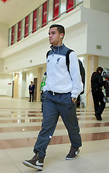 KAZAN, RUSSIA - Thursday, November 5, 2015: Liverpool's Philippe Coutinho Correia arrives before the UEFA Europa League Group Stage Group B match against FC Rubin Kazan at the Kazan Arena. (Pic by Oleg Nikishin/Propaganda)