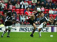 Fotball, 14.september 2002,  FA Premiership. Sunderland - Fulham 0-3. Stadium of Light. Niall Quinn, Sunderland.