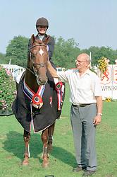 Klompmaker Hester-Plato + fokker<br />KWPN Paardendagen 2001<br />Photo © Dirk Caremans