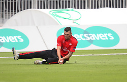 Jack Burnham of Durham Jets in action - Mandatory by-line: Jack Phillips/JMP - 23/07/2017 - CRICKET - Emirates Old Trafford - Manchester, United Kingdom - Lancashire Lightning v Durham Jets - Natwest T20 Blast