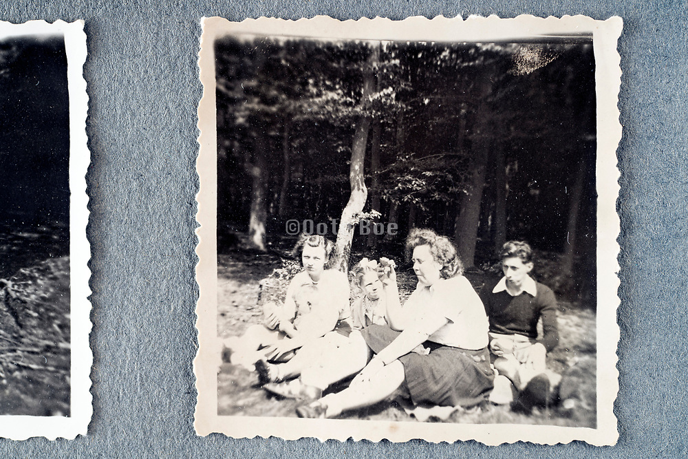 family picnic in the woods ca 1950s Holland