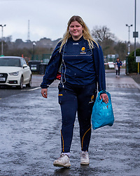 Hannah Stephens of Worcester Warriors Women arrives at Sixways - Mandatory by-line: Nick Browning/JMP - 20/12/2020 - RUGBY - Sixways Stadium - Worcester, England - Worcester Warriors Women v Harlequins Women - Allianz Premier 15s