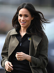 Prince Harry and Meghan Markle attend the UK team trials for the Invictus Games Sydney 2018 at the University of Bath Sports Training Village, Bath, UK, on the 6th April 2018. 06 Apr 2018 Pictured: Meghan Markle. Photo credit: James Whatling / MEGA TheMegaAgency.com +1 888 505 6342