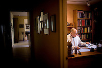 Jay Chapman, a retired medical pathologist, goes through his file of when the lethal injection was signed into law in the state of .Oklahoma in 1977, in his home in Santa Rosa, Ca., on Friday, Oct. 29, 2010. Mr. Chapman, who supported the death penalty, was the chief medical examiner in Oklahoma back then. The cocktail basically involves uses an overdose of an anesthetic..