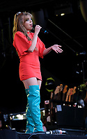 Becky Hill live on stage at the Isle of Wight Festival, Newport, IOW photo by Dawn Fletcher -Park