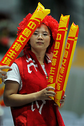 28-08-2010 VOLLEYBAL: WGP FINAL CHINA - USA: BEILUN NINGBO<br /> USA power beat China in straight sets / Chinese fans support their team agains USA<br /> ©2010-WWW.FOTOHOOGENDOORN.NL