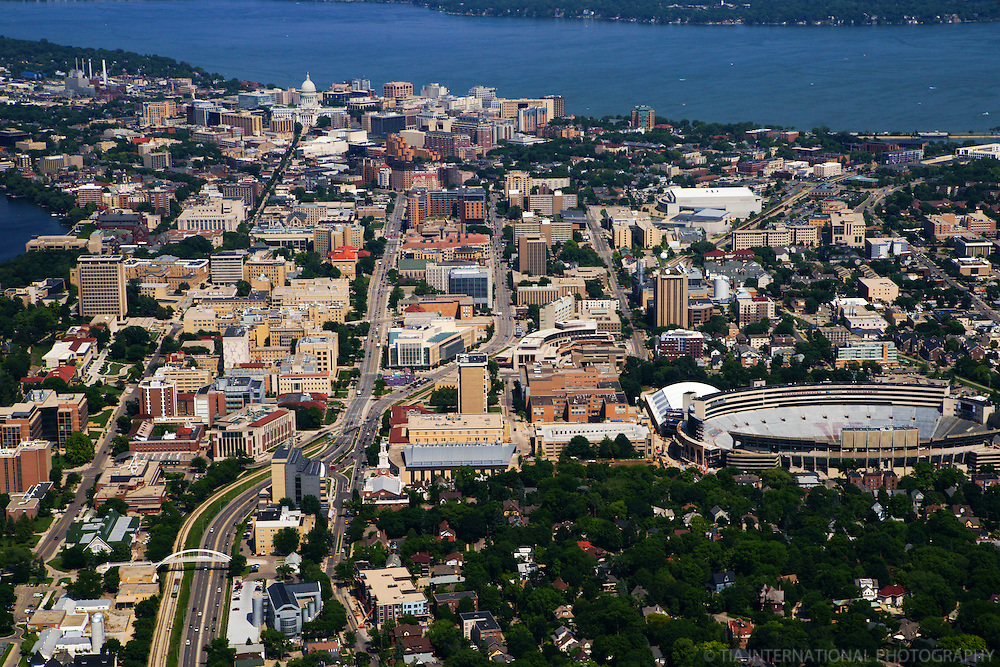 University of Wisconsin featuring Camp Randall Stadium (Home of the Badgers football team)