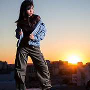 Studio fashion shoot with Los Angeles model, Marielle. Images made at FD Photo Studios Rooftop on October 18, 2018 in Downtown Los Angeles, California.  ©Michael Der