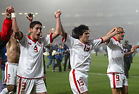 FOOTBALL - AFRICAN NATIONS CUP 2004 - 1/4 FINAL - 040207 - TUNISIA v SENEGAL - TUNISIAN JOY AFTER THEIR SEMI FINAL QUALIFICATION - PHOTO JEAN MARIE HERVIO / FLASH PRESS<br />  *** Local Caption *** 40001038