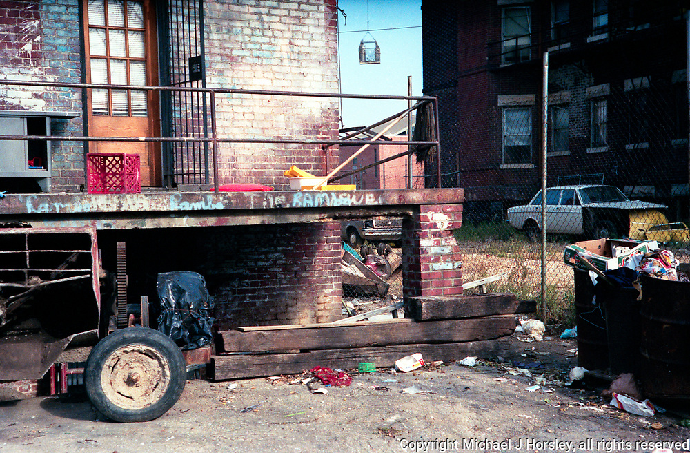 Behind 1500 Block (South side) U Street NW Washington DC 1986