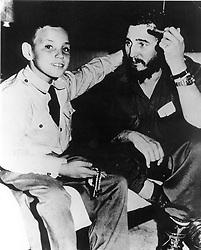 Italy, Pozzuoli (Naples) - 1993 - (?!).Fidel Castro and his son Midelito (Credit Image: © Napoli/Giacomino/Ropi via ZUMA Press)