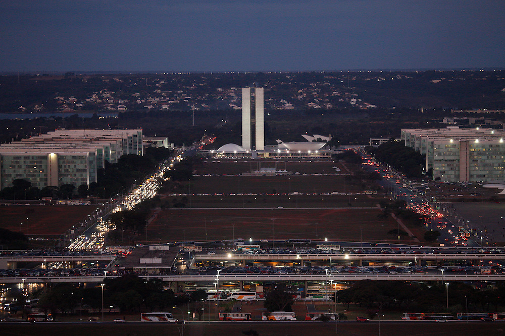 Brasilia_DF, Brasil.<br /> <br /> Complexo arquitetonico de Brasilia visto da antena da TV, Distrito Federal.<br /> <br /> Architectural complex of Brasília seen from the TV antenna , Distrito Federal.<br /> <br /> Foto: JOAO MARCOS ROSA / NITRO