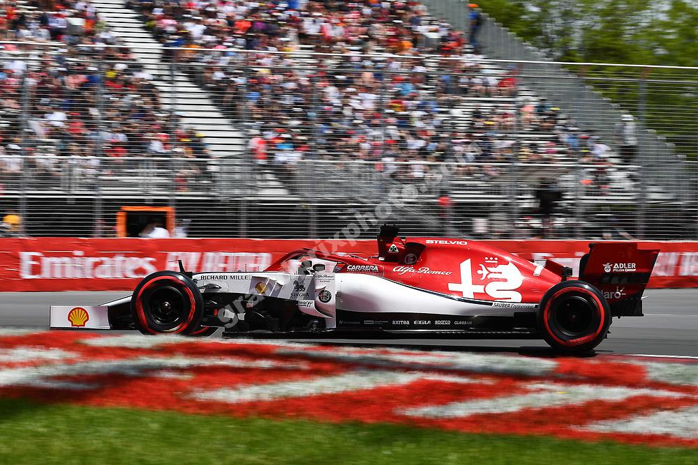 Kimi Raikkonen (Alfa Romeo-Ferrari) during practice for the 2019 Canadian Grand Prix in Montreal. Photo: Grand Prix Photo