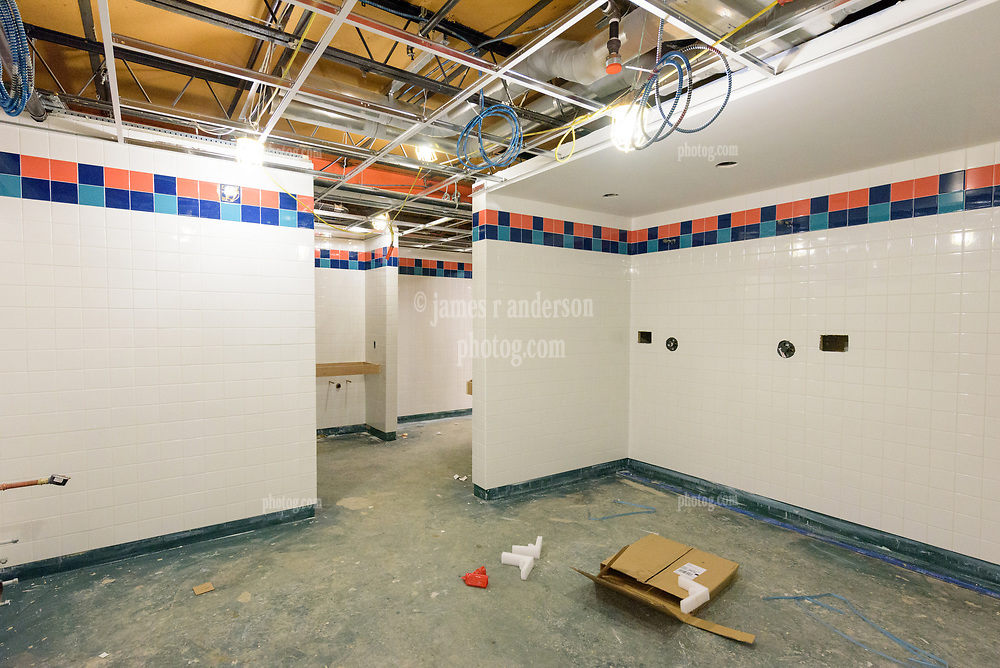 Major Renovation Litchfield Hall WCSU Danbury CT<br /> Connecticut State Project No: CF-RD-275<br /> Architect: OakPark Architects LLC  Contractor: Nosal Builders<br /> James R Anderson Photography New Haven CT photog.com<br /> Date of Photograph: 28 February 2017<br /> Camera View: 15 - Third Floor, Womens 302.1