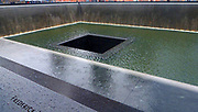 Ground Zero Memorial (Reflecting absence), honouring the victims of September 11 2001 attack on the World Trade Centr ewhich destroed the Twin Towers. New York City , USA