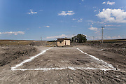 signs on the land in order to prepare a new building shape in Kars bus station