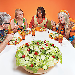 """White People Really Love Salad"" - Book cover"