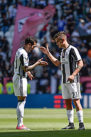 Paulo Dybala esulta con Dani Alves dopo il gol Juventus Goal celebration <br /> Torino 21-05-2017 Juventus Stadium Football Calcio Serie A 2016/2017 Juventus - Crotone .<br /> Foto Insidefoto