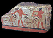 desert (oryx, gazelles) are brought before Metchetch. Ancient Egyptian wall painting