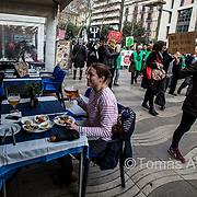 In 2017, Barcelona's most important neighbourhood organisations took a position in favour of touristic degrowth at the iconic Las Ramblas boulevard, a wide tree-lined avenue where eight in ten pedestrians are tourists.