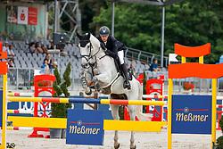 LUHMÜHLEN - Longines CCI5*-L/CCI4*-S Meßmer Trophy<br /> Deutsche Meisterschaften 2021<br /> <br /> WAHLER Christoph (GER), Carjatan S<br /> Teilprüfung Springen<br /> LONGINES CCI5*-L<br /> Show Jumping<br /> <br /> Luhmühlen, Turniergelände<br /> 20. June 2021<br /> © www.sportfotos-lafrentz.de/Stefan Lafrentz