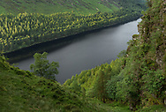 Stunning images of the upper lake at Glendalough, Co.Wicklow are possible when one is prepared to go off the beaten track. Access to the gullies on the south side of the lake is possible and can be very rewarding. Here, the setting sun lights up the tree tops on the far side and adds background interest.