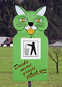 Switzerland, Thank you for not littering sign